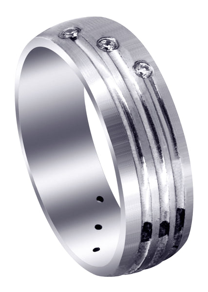 Classic Diamond Mens Wedding Band | 0.12 Carats (Gunner)