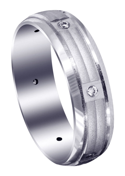 Contemporary Diamond Mens Wedding Band | 0.09 Carats (Zane)