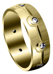 Yellow Gold Classic Diamond Mens Wedding Band | 0.32 Carats (Brooks)