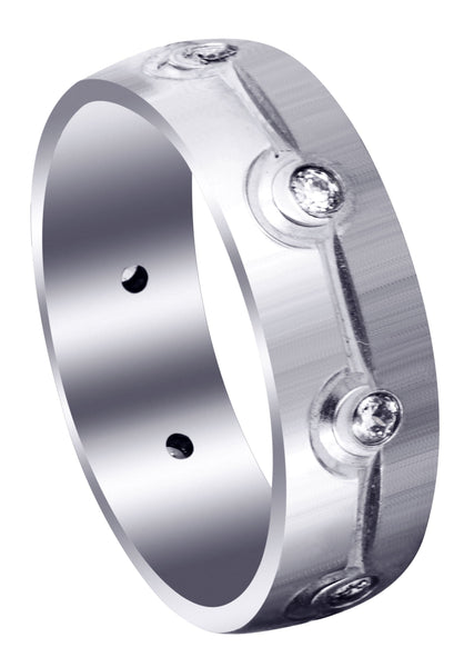 Classic Diamond Mens Wedding Band | 0.32 Carats (Brooks)