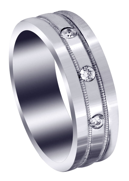 Classic Diamond Mens Wedding Band | 0.12 Carats (Emiliano)