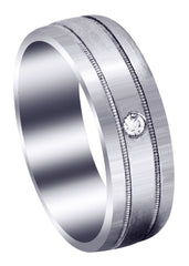 Classic Diamond Mens Wedding Band | 0.04 Carats (Paxton)