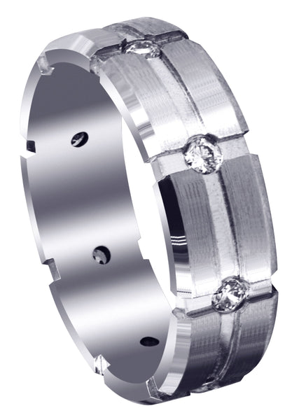 Classic Diamond Mens Wedding Band | 0.4 Carats (Andres)