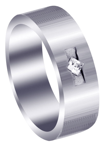 Classic Diamond Mens Wedding Band | 0.1 Carats (Javier)