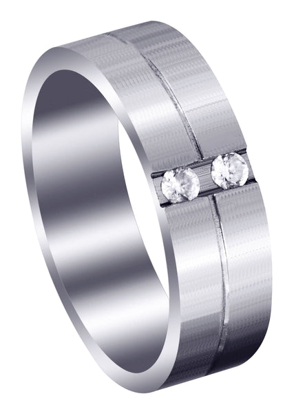 Classic Diamond Mens Wedding Band | 0.12 Carats (Jorge)