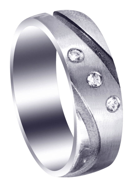 Contemporary Diamond Mens Engagement Ring | 0.09 Carats (Tanner)