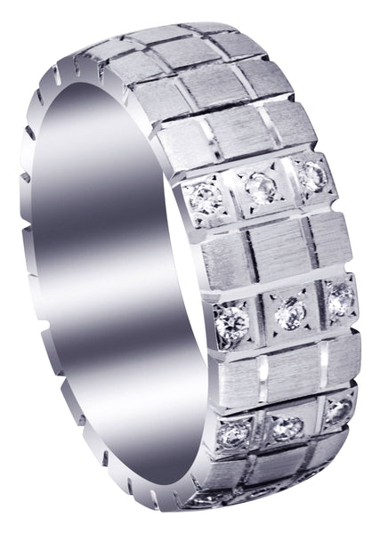 Classic Diamond Mens Wedding Band | 0.18 Carats (Myles)