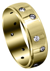 Yellow Gold Classic Diamond Mens Wedding Band | 0.48 Carats (Waylon)