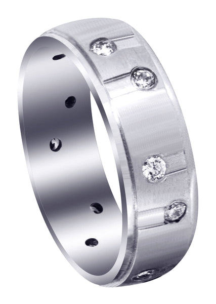 Classic Diamond Mens Wedding Band | 0.48 Carats (Waylon)