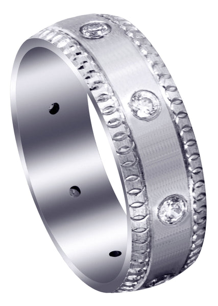 Classic Diamond Mens Wedding Band | 0.4 Carats (Gage)