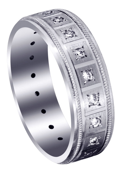 Classic Diamond Mens Wedding Band | 0.4 Carats (River)