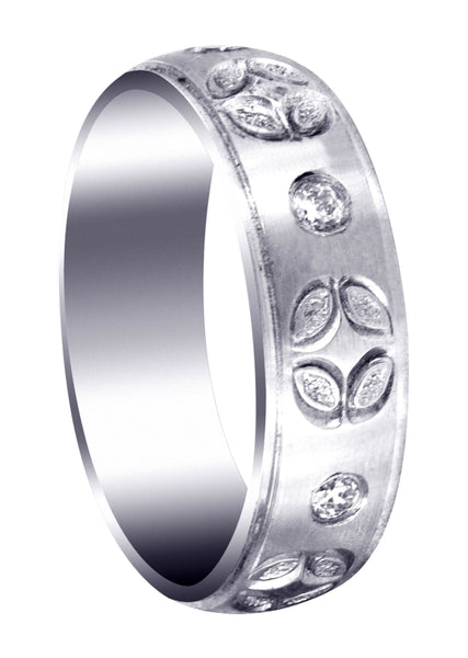 Diamond Mens Wedding Band | 0.3 Carats | Satin Finish (Shane)