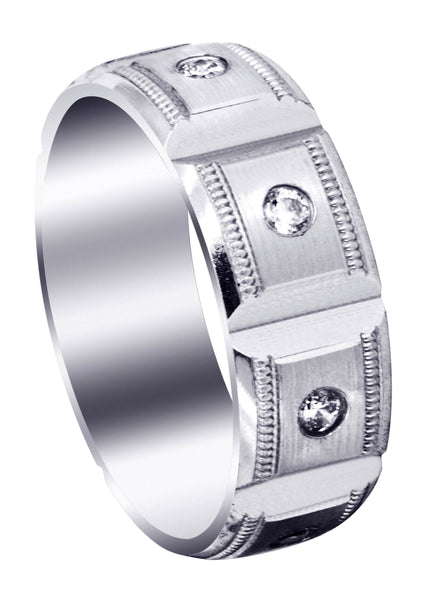 Diamond Mens Engagement Ring | 0.4 Carats | Satin Finish (Colt)