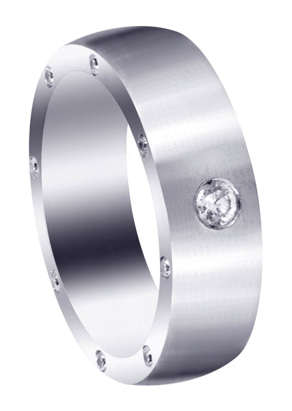 Diamond Mens Wedding Band | 0.26 Carats | Satin Finish (Trenton)
