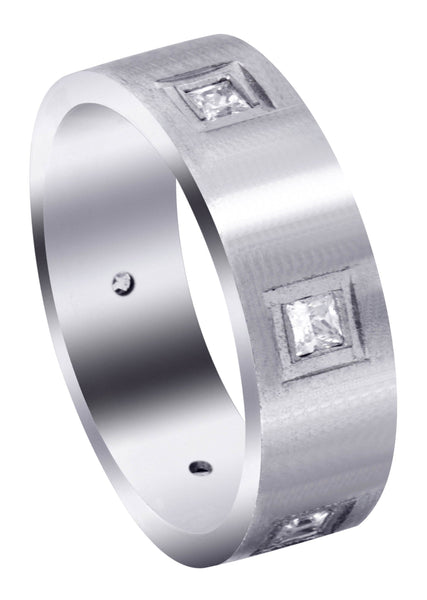 Diamond Mens Engagement Ring | 0.6 Carats | Satin Finish (Jaylen)
