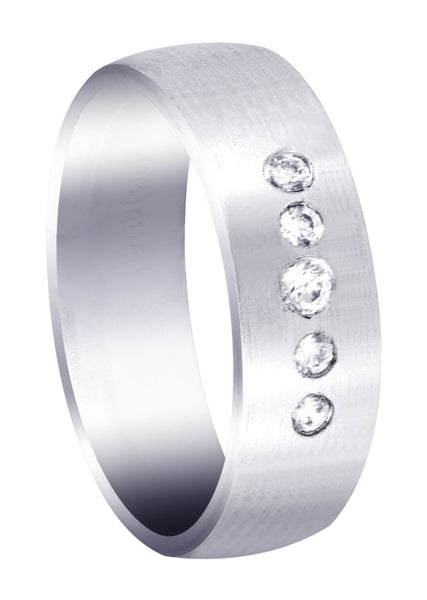 Diamond Mens Engagement Ring | 0.07 Carats | Satin Finish (Andre)