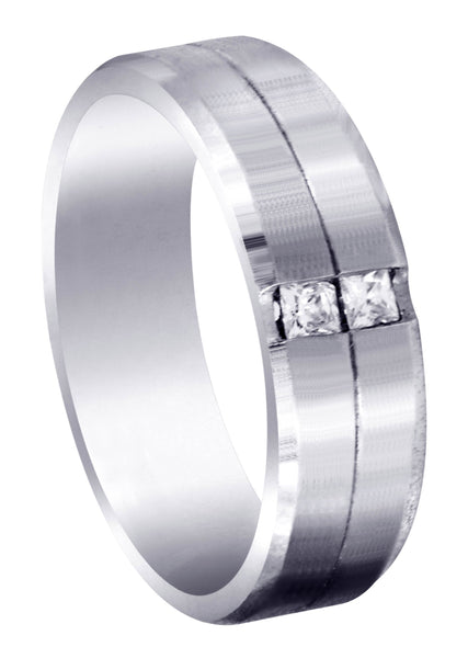Diamond Mens Wedding Band | 0.34 Carats | Satin Finish (Rhett)