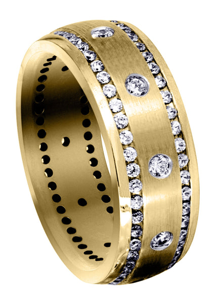 Yellow Gold Diamond Mens Engagement Ring | 0.96 Carats (Mohamed)