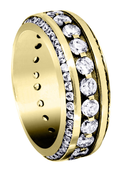 Yellow Gold Diamond Mens Engagement Ring | 1.68 Carats (Landyn)