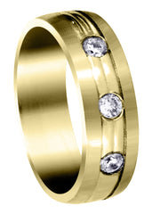 Yellow Gold Diamond Mens Wedding Band | 0.36 Carats (Brennan) Yellow Wedding Band FROST NYC