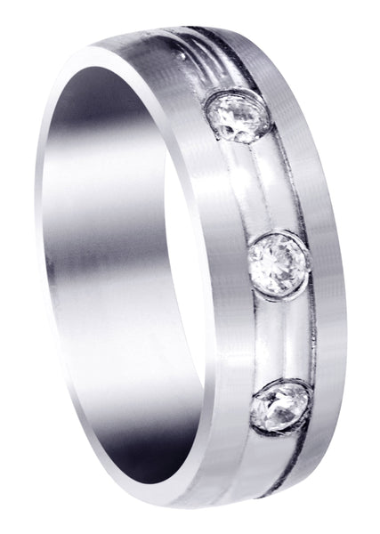 Diamond Mens Wedding Band | 0.36 Carats (Brennan)