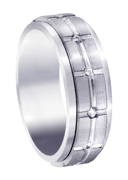 Diamond Mens Wedding Band | 0.6 Carats | Satin Finish (Trevor)