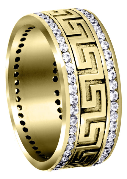 Yellow Gold Diamond Mens Wedding Band | 1.5 Carats (Harvey)
