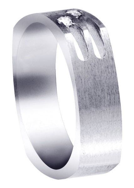Diamond Unique Mens Wedding Band | 0.08 Carats (Maximilian)