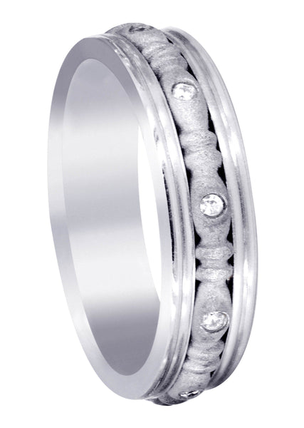 Diamond Mens Wedding Band | 0.1 Carats | Sand Blast Finish (Johnny)
