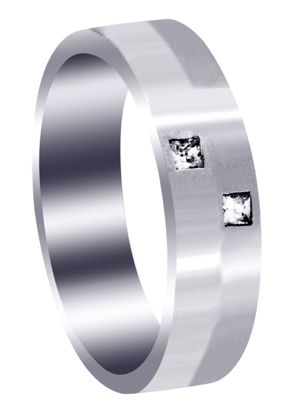 Diamond Mens Wedding Band | 0.1 Carats (Hugo)