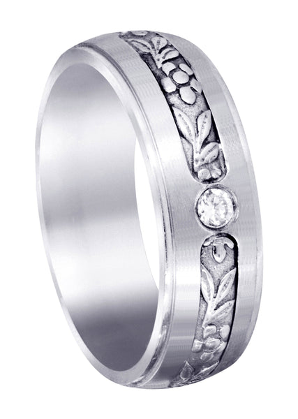 Diamond Mens Engagement Ring | 0.28 Carats | Satin Finish (Barrett)