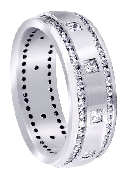 Diamond Mens Wedding Band | 1.04 Carats | Satin Finish (Armando)