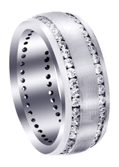 Diamond Mens Wedding Band | 1.68 Carats | Satin Finish (Ari)