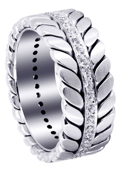 Diamond Mens Wedding Band | 0.6 Carats | High Polish Finish (Drake)