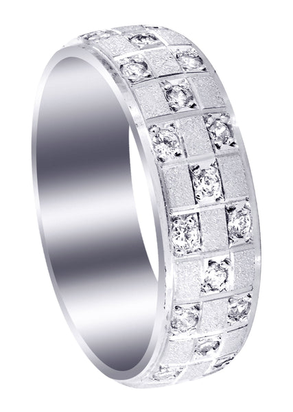 Diamond Mens Wedding Band | 0.17 Carats | Stone Finish (Prince)