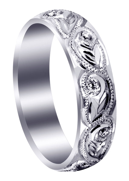 Diamond Mens Wedding Band | 0.2 Carats | High Polish Finish (Abram)