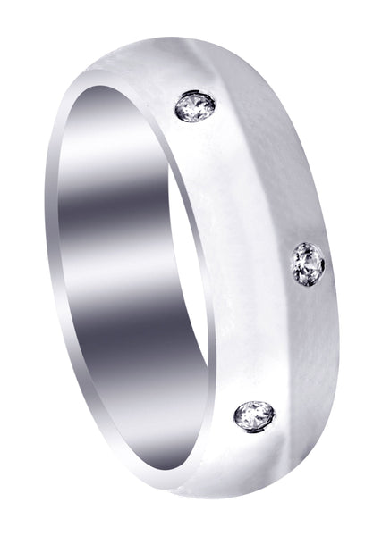 Diamond Mens Wedding Band | 0.36 Carats | High Polish Finish (Solomon)