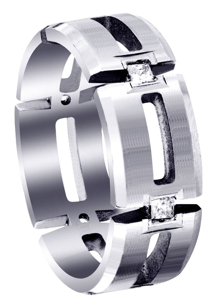 Diamond Mens Wedding Band | 0.3 Carats | Satin Finish (Skyler)