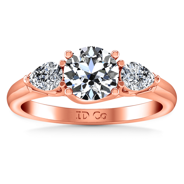 Three Stone Diamond EngagementRing Chantal 14K Rose Gold