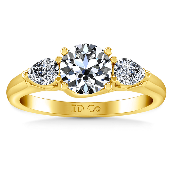Three Stone Diamond Engagement Ring Chantal 14K Yellow Gold