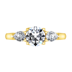 Three Stone Diamond Engagement Ring Chantal 14K Yellow Gold engagement rings imaginediamonds