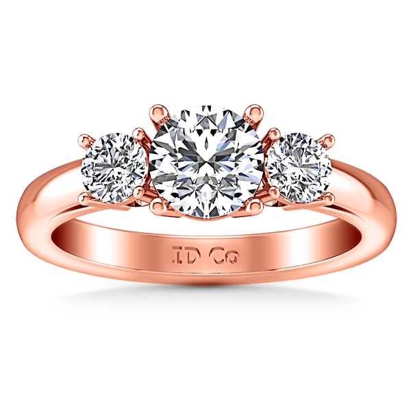 Three Stone Diamond EngagementRing Alexandra 14K Rose Gold