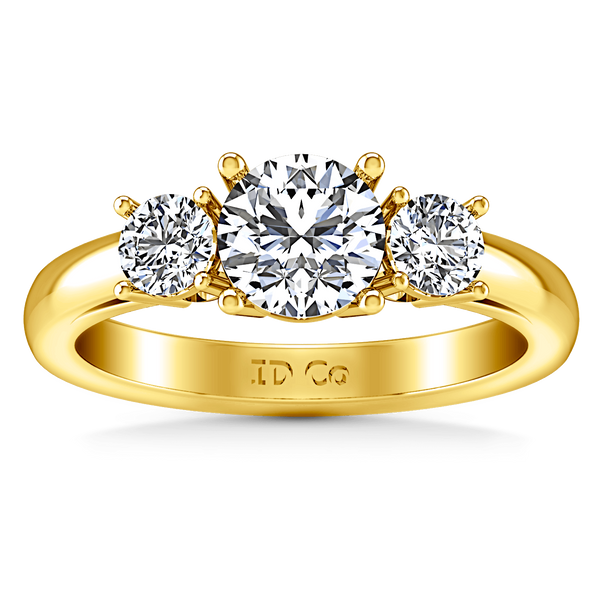 Three Stone Diamond Engagement Ring Alexandra 14K Yellow Gold
