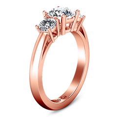 Three Stone Diamond EngagementRing Alexandra 14K Rose Gold engagement rings imaginediamonds