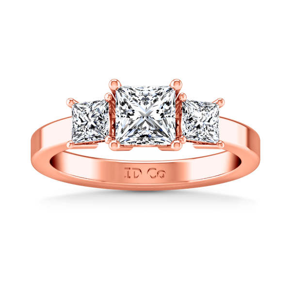 Three Stone Diamond EngagementRing Alana 14K Rose Gold