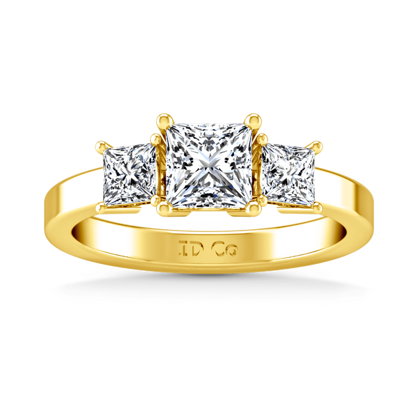 Three Stone Diamond Engagement Ring Alana 14K Yellow Gold