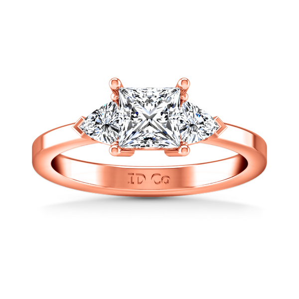 Three Stone Diamond EngagementRing Simone 14K Rose Gold