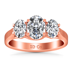Three Stone Diamond EngagementRing Arabella 14K Rose Gold engagement rings imaginediamonds