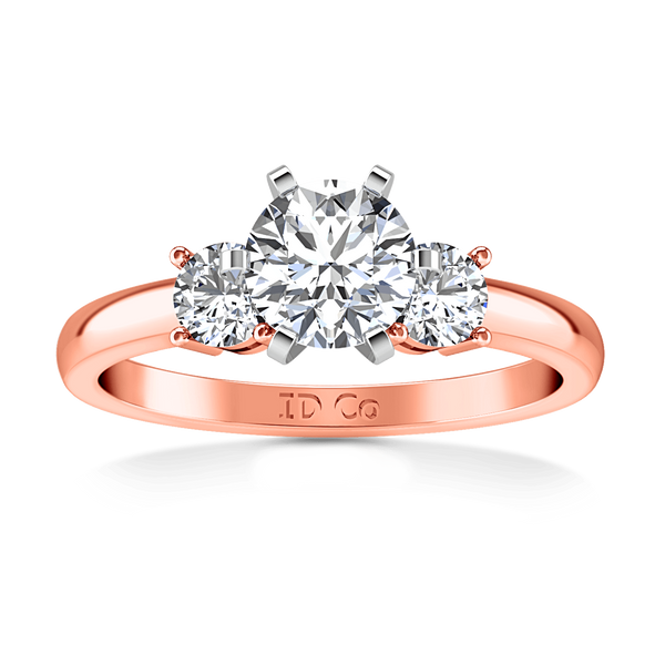 Three Stone Diamond EngagementRing Talia 14K Rose Gold