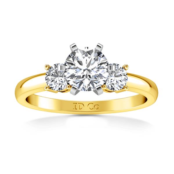 Three Stone Diamond Engagement Ring Talia 14K Yellow Gold